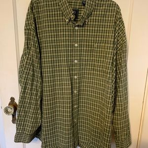 Izod Saltwater green plaid long sleeve shirt 3X